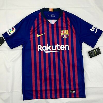 eb783a49fa3 Nike 2018/19 FC Barcelona Home Stadium Soccer Jersey Blue 894430-456 Men's  Large