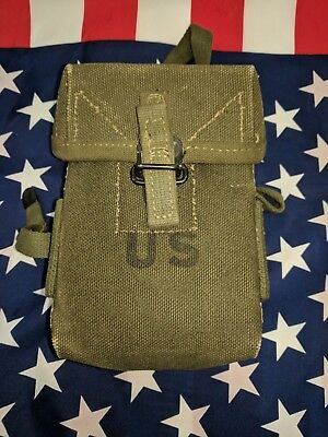 U.S. Military M-1956 Magazine Pouch Early Vietnam War 1960's Canvas Pouch RARE