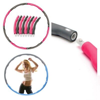 Collapsible 1KG Weighted Padded Hula Hoop Fitness Abs Exercise Gym Workout Hoola