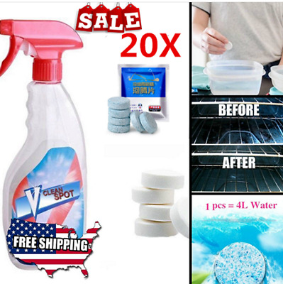 20x Multifunctional Effervescent Spray Super Cleaner V Clean Spot Without Bottle