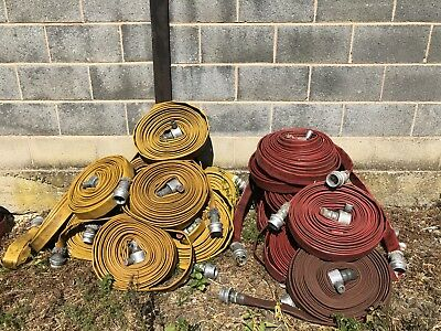 Ex fire brigade 45mm fire hose firefighting duraline viking flood pumping