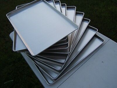 "Lot Of 9 Panco Full Size SP1826 18"" x 26"" x 1"" Wire Rim Baking Bakery Sheet Pans"