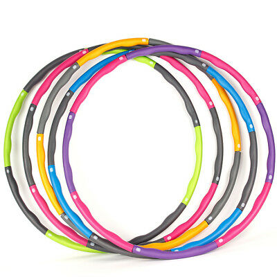 Weighted Gym Hula Hoop Fitness Workout/Exercise Ring Hoola Massager Ab 1KG New