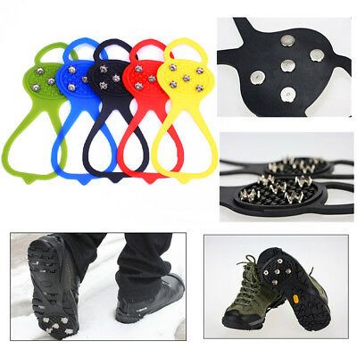 5-STUD Anti Slip Ice Grips Crampons Adult Kids Snow Shoes Spikes Boots Cleats