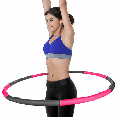 Weighted Hula Hoop Fitness Exercise Abs 1kg Foam Padded Workout Hoop Adult Kids