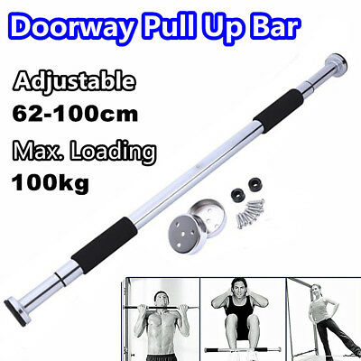 62-100cm Door Bar Chin Pull Ups Home Gym Fitness Strength Exercise Training UKOS