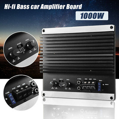 12V 1000W Powerful Audio Mono HiFi Amplifier Board Car Home Subwoofer Super Bass