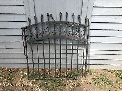 Antique Vintage Victorian Iron Gate