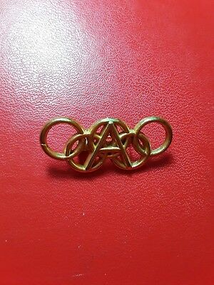 Greece , Greek Gold platted pin olympic Commitee  members Athens 2004.Very Rare