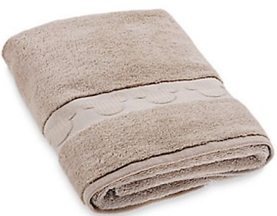 Disney Parks Bath Towel w Hidden Mickey Mouse Detail Brown Beige