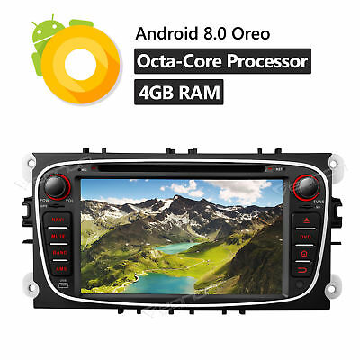 Android 8.0 Car DVD Player Sat Nav GPS DAB+ OBD2 DVR for Ford Focus Mondeo S-Max