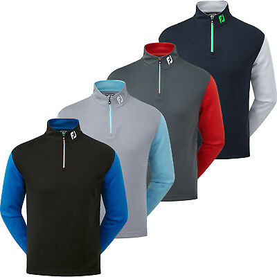 FootJoy 2018 Mens Double Layer Knit Contrast Golf Chill Out Pullover