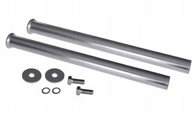 2 x Mudguard Tube Support Ø 42 mm Galvanized Mounting Tube with fixing kit