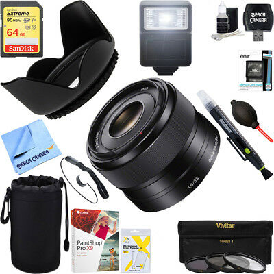 Sony 35mm f/1.8 Prime Fixed E-Mount Lens + 64GB Ultimate Kit