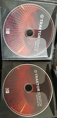 Traktor Scratch Control Disc Mk2 PAIR DVS CD Disks DJ Native Instruments NI Pro