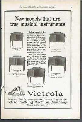 Vintage, Original, 1922 - Victrola Phonograph Advertisement - Record Player
