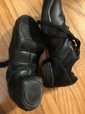 Revolution Dance Wear BLACK Hip Hop Dance Sneakers Leather Size 4 Ad