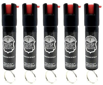 5 Police Magnum pepper spray .75oz keyring personal safety defense protection
