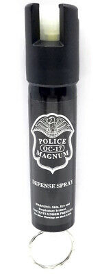 Police Magnum pepper spray .75oz Keyring GID personal safety defense protection