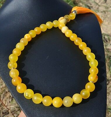 Amber 36.65gr. Genuine Natural Baltic Necklace Rosary Beads Jewelry Amber Stone