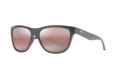 4985420d2da NEW Maui Jim Secrets R767-02MB Black with Red Interior Unisex Sun Polarised