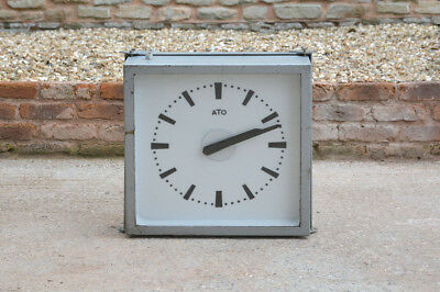 vintage industrial clock large old outside wall clock train/bus/factory clock