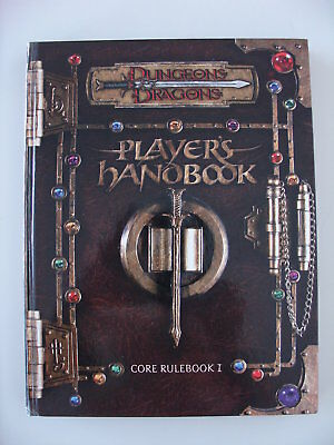 Dungeons & Dragons Player's Handbook Core Rulebook I D&D 3rd Edition English HC