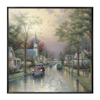 Thomas Kinkade Hometown Morning 36 x 36 Enmarcado Pared Mural