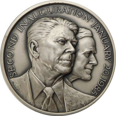 Medallic Arts Co. N.Y.- Ronald Reagan Second Inauguration .999 Silver Medal