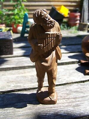 Antique Vintage German Black Forest Man Musician