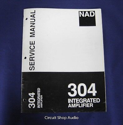 ORIGINAL NAD 2240PE Power Amplifier Service Manual - $19 95
