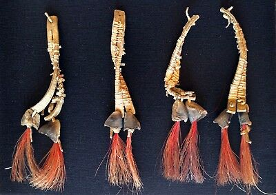 Antique Native American Indian Quill Tipi Ties / Ceremonial Drops (circa 1860)