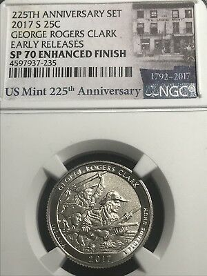 2017-S GEORGE ROGERS CLARK Quarter Exact Coin Shown 225th Anniversary NGC SP70