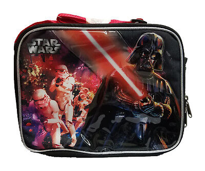 Star Wars Darth Vader Lunch Box Black Red Boys Insulated