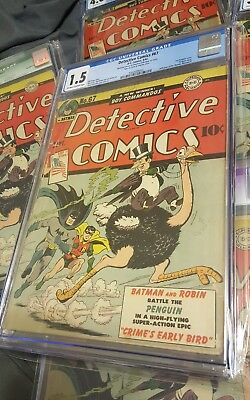 Detective Comics # 67 1st Penguin Cover Appearance CGC 1.5 Batman ! KEY ISSUE