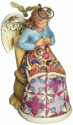 Jim Shore Heartwood Creek Christmas Angel Sewing Hanging Ornament 4047805 NEW