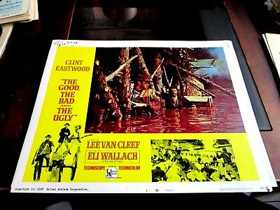 The Good Bad, And The Hugly, Van Cleefe, Wallach, Eastwood, Lobby,#3, 1968