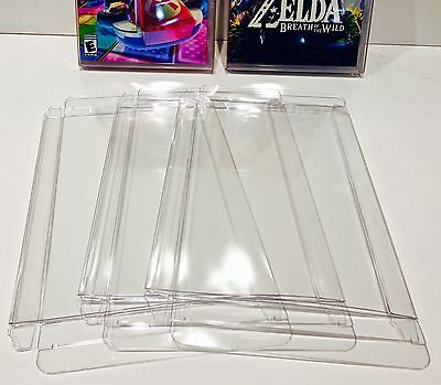 10 Box Protectors for NINTENDO SWITCH Video Games  Custom Display Case Sleeve