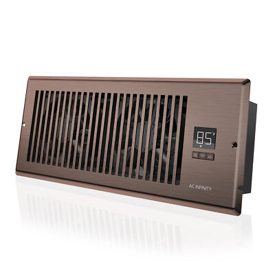 "AIRTAP T4, Quiet Register Booster Fan, Heating / Cooling 4 x 12"" Register Bronze"