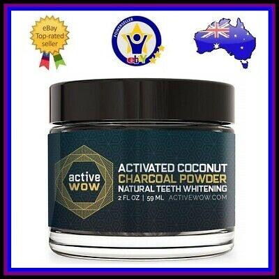 Active Wow | Activated Coconut Charcoal Powder Natural Teeth Whitening | 20Ml