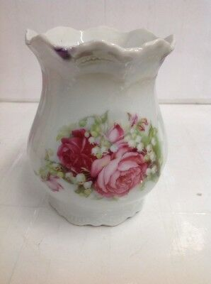 Antique ~ Germany ~ Leuchtenburg ~ Jar ~ Hand Painted ~ Roses ~ Floral ~ Lovely