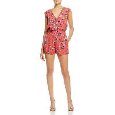 81cd687f7d6 Cupcakes and Cashmere Womens Fitz Floral Tie Neck Casual Romper BHFO 2348