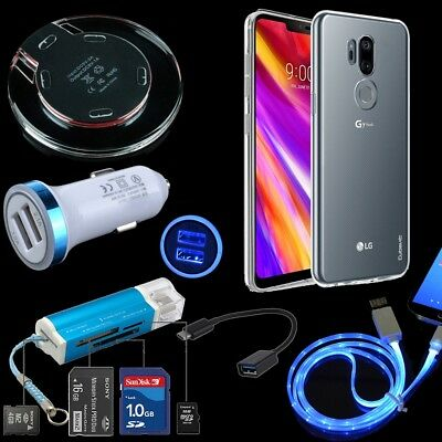 6 Kits Car Charger QI Wireless Pad Card Reader Cable Soft Case For LG G7 ThinQ