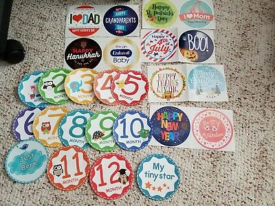 Baby Milestone Stickers Boy or Girl