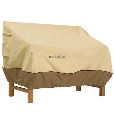 Waterproof Patio Loveseat Bench Cover Elastic Band Outdoor Furniture Protection