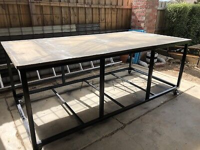 Work Bench 2400mm x 1200mm, Portable, Mobile Tabletop