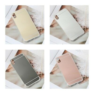 Luxury Ultra-thin Soft For iphone X Case Mirror Fashion Styles Protector Slim