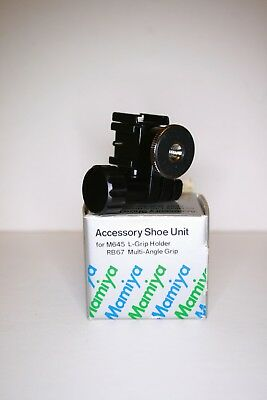MAMIYA accessory flash shoe unit for mamiya 645 deluxe L-grip new old stock