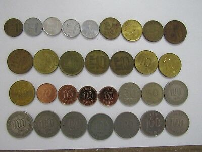 Lot of 31 Different South Korea Coins - 1967 to 2009 - Circulated & Uncirculated