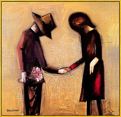 "CHARLES BLACKMAN ""The Meeting"" Signed, Limited Edition on Canvas FRAMED"